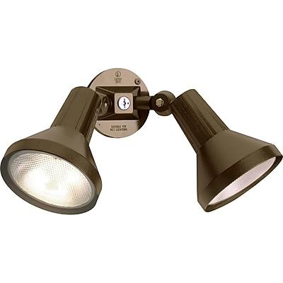 Satco Incandescent 2-Light Dark Bronze Flood Light with Aluminum Shades (STL-SAT774959)