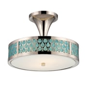 Satco LED 2-Light Polished Nickel Semi-Flush Mount with White Glass Shades (STL-SAT321450)