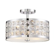 Lite-Source Incandescent 2-Light Chrome Semi-Flush Mount (STL-LTR467182)