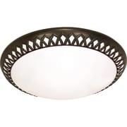 Satco CFL 3-Light Old Bronze Flush Mount with White Plastic Shades (STL-SAT609251)