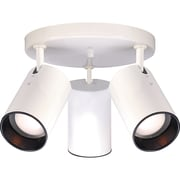 Satco Halogen 3-Light White Flush Mount with Straight Cylinder Aluminum Shades (STL-SAT764165)