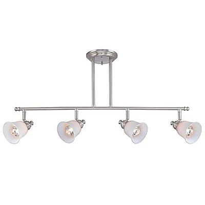 Lite-Source Halogen 4-Light Halogen Polished Steel Track Light (STL-LTR453710)