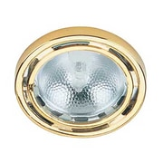 Lite-Source Halogen 1-Light Halogen Polished Brass Puck Light (STL-LTR400554)