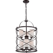 Satco Incandescent 6-Light Old Bronze Chandelier with Etched Opal Glass Shades (STL-SAT653391)