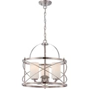 Satco Incandescent 4-Light Old Bronze Pendant with Etched Opal Glass Shades (STL-SAT653339)