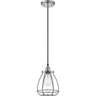 Satco Incandescent 1-Light Polished Nickel Pendant (STL-SAT654015)