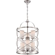 Satco Incandescent 6-Light Brushed Nickel Chandelier with Etched Opal Glass Shades (STL-SAT653292)