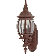 Satco Incandescent 1-Light Old Bronze Wall Lantern with Clear Beveled Panels Glass Shade (STL-SAT608865)