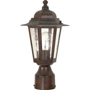 Livex Incandescent 1-Light Old Bronze Wall Lantern with Clear Seed Glass Shade (STL-SAT609954)