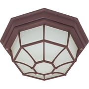 Satco CFL 1-Light Old Bronze Wall Lantern with Frosted Glass Shade (STL-SAT605796)