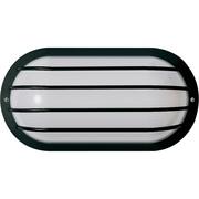 Satco Incandescent 1-Light Black Wall Lantern with Polysynthetic Body & Lens Aluminum Shade (STL-SAT778575)