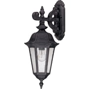 Satco Incandescent 1-Light Satin Iron Ore Wall Lantern with Seeded Mist Glass Shade (STL-SAT620348)