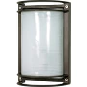 Satco CFL 1-Light Architectural Bronze Wall Lantern with Frosted Diffuser Glass Shade (STL-SAT605758)