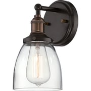 Satco Incandescent 1-Light Rustic Bronze Wall Sconce with Clear Glass Shade (STL-SAT655142)