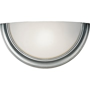 Satco CFL 1-Light Brushed Nickel Wall Sconce with Opal Glass Shade (STL-SAT629518)