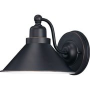 Satco Incandescent 1-Light Mission Dust Bronze Wall Sconce with Metal Shade Bronze Metal Shade (STL-SAT617096)
