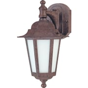 Satco CFL 1-Light Old Bronze Wall Lantern with Satin White Glass Shade (STL-SAT622052)