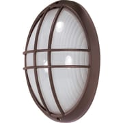 Satco CFL 1-Light Architectural Bronze Wall Lantern with Frosted Diffuser Glass Shade (STL-SAT605734)