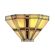 Lite-Source Incandescent 2-Light Dark Bronze Wall Sconce with Tiffany Shade (STL-LTR497196)