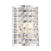 Lite-Source Incandescent 1-Light Chrome Wall Sconce (STL-LTR467175)