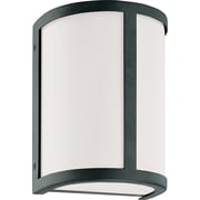 Satco Incandescent 1-Light Aged Bronze Wall Sconce with Satin White Glass Shade (STL-SAT629716)