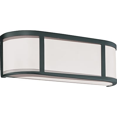 Satco Incandescent 2-Light Aged Bronze Wall Sconce with Satin White Glass Shades (STL-SAT629723)