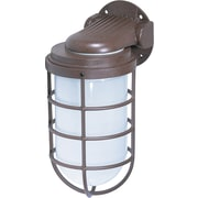 Satco Incandescent 1-Light Old Bronze Wall Lantern with Frosted Glass Shade (STL-SAT766237)