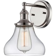 Satco Incandescent 1-Light Polished Nickel Wall Sconce with Clear Glass Shade (STL-SAT654138)