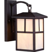 Satco Incandescent 1-Light Claret Bronze Wall Lantern with Honey Stained Glass Shade (STL-SAT656712)