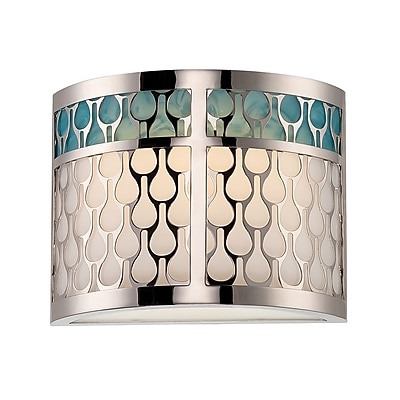 Satco LED 3-Light Polished Nickel Wall Sconce with White Lucite (STL-SAT321436)