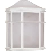 Satco Incandescent 1-Light White Wall Lantern with White Acrylic Glass Shade (STL-SAT605376)