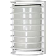 Satco Incandescent 1-Light Semi-Gloss White Wall Lantern with Frosted Diffuser Glass Shade (STL-SAT605321)