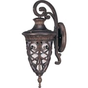 Satco Incandescent 1-Light Dark Plum Bronze Wall Lantern with Clear Seeded Glass Shade (STL-SAT620546)