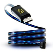 DATASTREAM Micro USB Cable with Blue LED Flowing Current