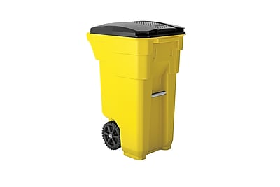 Suncast Commercial Wheeled Trashcan, 32 Gallon, Yellow (BMTCW32Y)