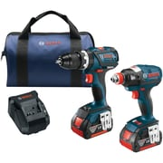 "Brushless 1/4"" & 1/2"" Socket-Ready Impact Driver & Brushless Compact Tough 1/2"" Hammer Drill/Driver 18-Volt Cordless Combo Kit"