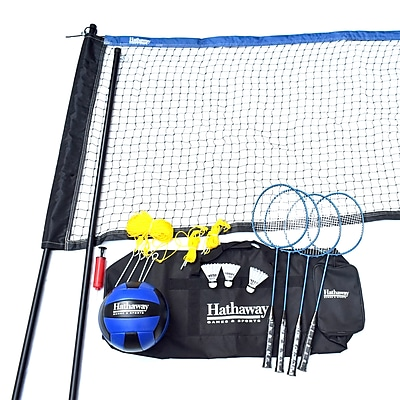 Hathaway Volleyball and Badminton Complete Combo Set (BG3141)