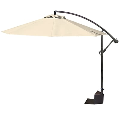 Island Umbrella Santiago 10 Foot Octagonal Cantilever Spa Side Umbrella in Champagne (NP5806)