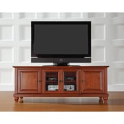 "Crosley Cambridge 60"" Low Profile TV Stand in Classic Cherry Finish (KF10005DCH)"