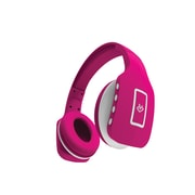 Jade Foldable Bluetooth Headphones with Built in Mic & Hands Free Remote, Pink (OTBTHPJE-PK)