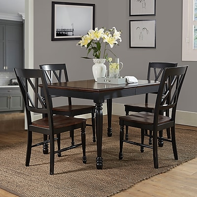 Crosley Shelby 5Pc Dining Set In Black Finish (KF20003-BK)