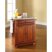 Crosley Alexandria Stainless Steel Top Portable Kitchen Island in Classic Cherry Finish (KF30022ACH)