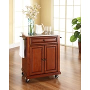 Crosley Stainless Steel Top Portable Kitchen Cart/Island in Classic Cherry Finish (KF30022ECH)