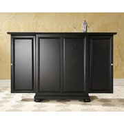 Crosley Alexandria Expandable Bar Cabinet in Black Finish (KF40001ABK)