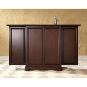 Crosley Alexandria Expandable Bar Cabinet in Vintage Mahogany Finish (KF40001AMA)