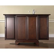 Crosley LaFayette Expandable Bar Cabinet in Vintage Mahogany Finish (KF40001BMA)