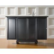 Crosley Cambridge Expandable Bar Cabinet in Black Finish (KF40001DBK)