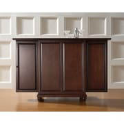 Crosley Cambridge Expandable Bar Cabinet in Vintage Mahogany Finish (KF40001DMA)