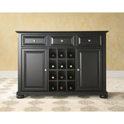 Crosley Alexandria Buffet Server / Sideboard Cabinet with Wine Storage in Black Finish (KF42001ABK)