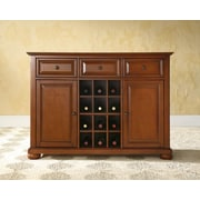 Crosley Alexandria Buffet Server / Sideboard Cabinet with Wine Storage in Classic Cherry Finish (KF42001ACH)